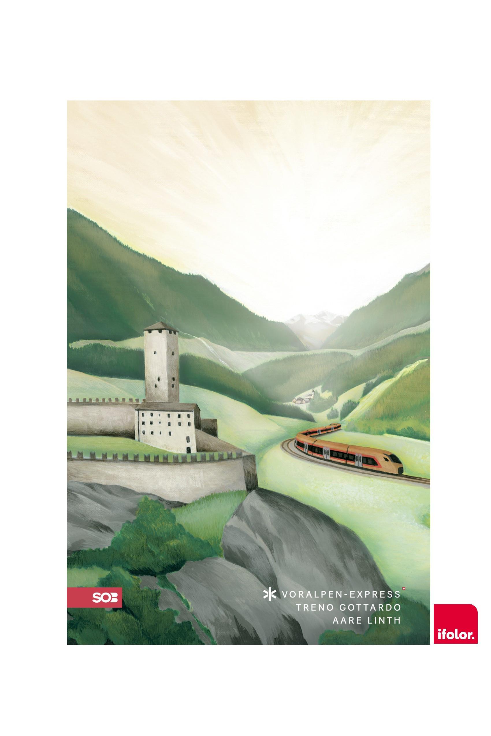 "Selbstklebendes Fotoposter ""Bellinzona"", matt, 40 x 60 cm"