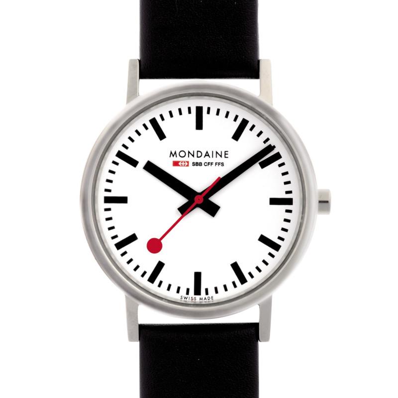 Armbanduhr Mondaine, Schwarz