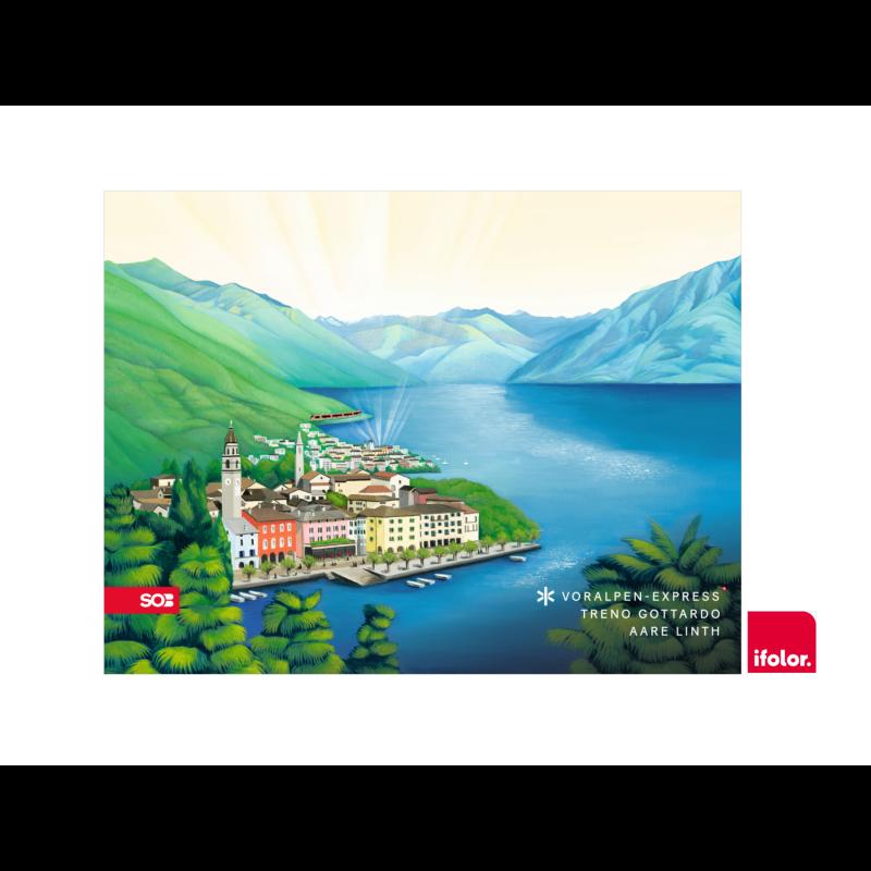 "Fotoleinwand ""Ascona"" mit SOB-Logo 80 x 60 cm"
