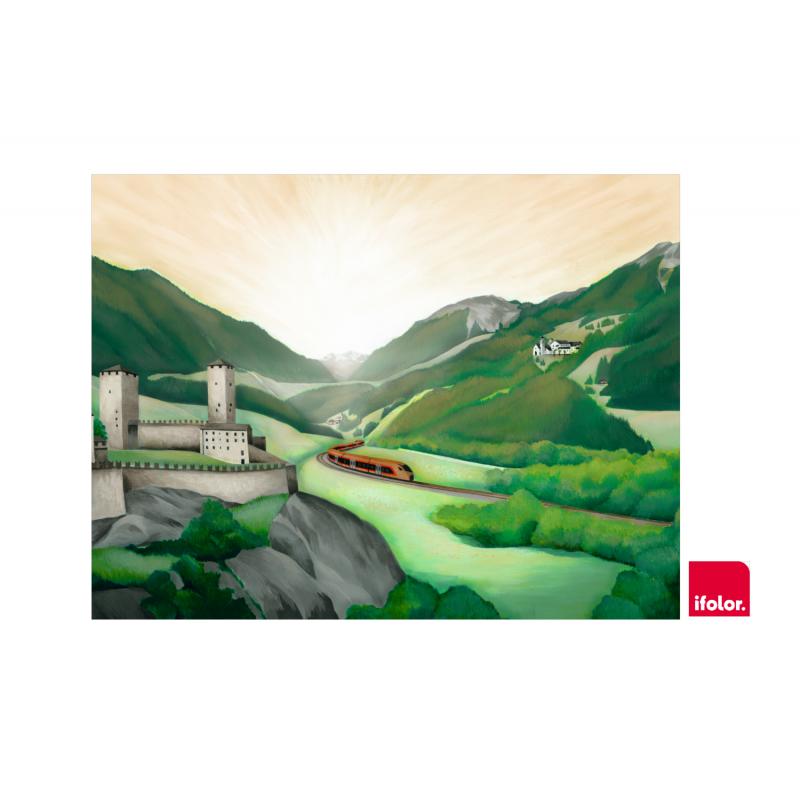 "Fotoleinwand ""Bellinzona"" ohne SOB-Logo 80 x 60 cm"
