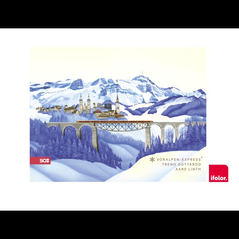 Fotoleinwand «St. Gallen» mit SOB-Logo 80 x 60 cm