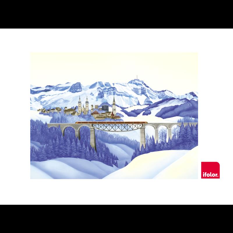 "Fotoleinwand ""St.Gallen"" ohne SOB-Logo 80 x 60 cm"