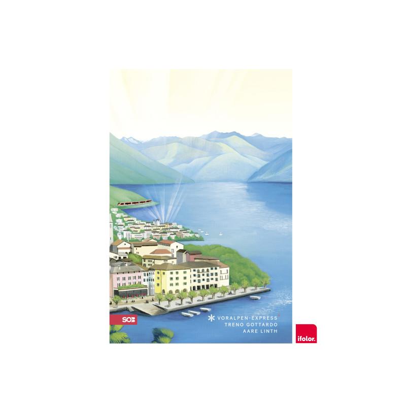 "Selbstklebendes Fotoposter ""Ascona"", matt, 40 x 60 cm"