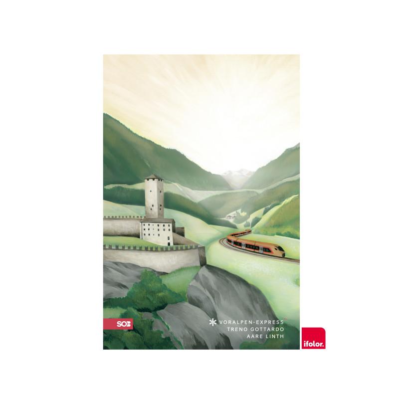 "Fotoposter ""Bellinzona"", glanz, 40 x 60 cm"
