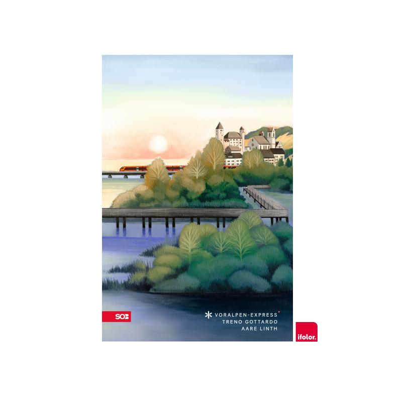 """Selbstklebendes Fotoposter """"Rapperswil"""", matt, 40 x 60 cm"""