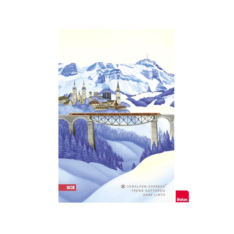 """Selbstklebendes Fotoposter """"St.Gallen"""", matt, 40 x 60 cm"""